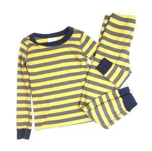 Hanna Andersson Striped Long John Pajama Set 120